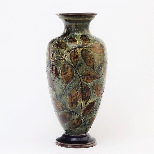 Royal Doulton Natural Foliage Ware Vase by Florrie Jones c1905
