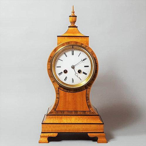 Sheraton Style Balloon Bracket Clock (19th Century Movement)