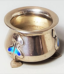 Liberty & Co Cymric silver salt designed by Archibald Knox