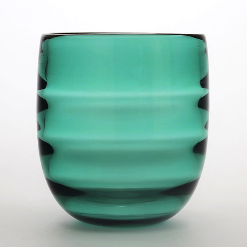 Orrefors Optic Ribbed Glass Vase by Edward Hald 1932