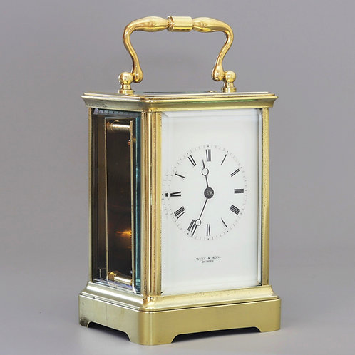 J Soldano Corniche Carriage Clock Retailed by West & Son, Dublin c1875