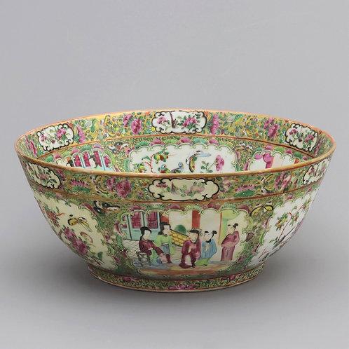 19th Century Famille Rose Cantonese Bowl c1880
