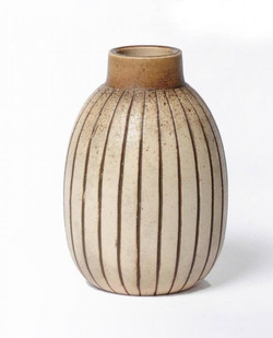 Martin Brothers Stoneware Gourd Vase 1899