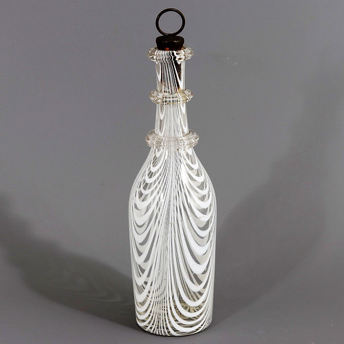 Antique Nailsea Glassworks Stoppered Glass Bottle