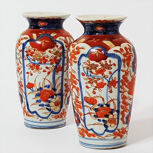 Pair of Antique Japanese Imari Vases c1890