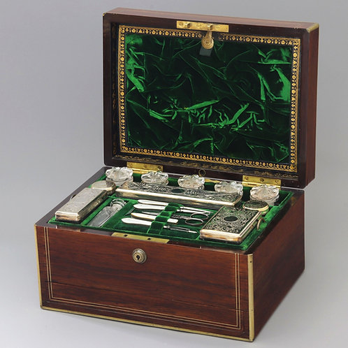 Ladies' Dressing Jewellery Box by Austin's of Dublin c1850