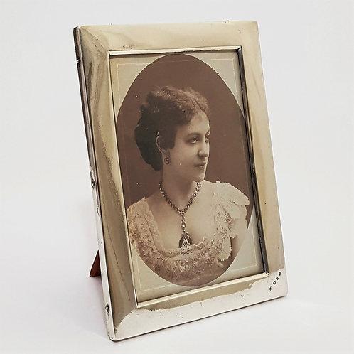Silver Rectangular Easel Photo Frame Birmingham 1898