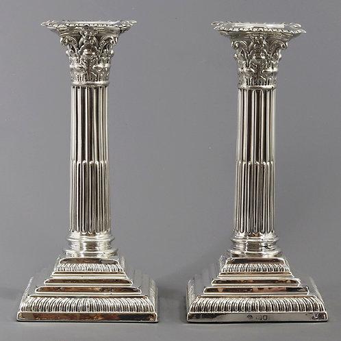 Pair of Silver Candlesticks William Hutton