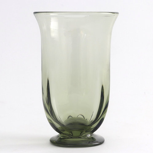 Early 20th Century Stourbridge Sea-Green Glass Vase c1930s