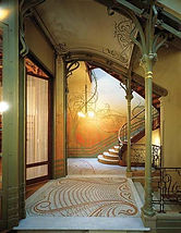 Staircase at the Tassel House Brussels designed by Victor Horta