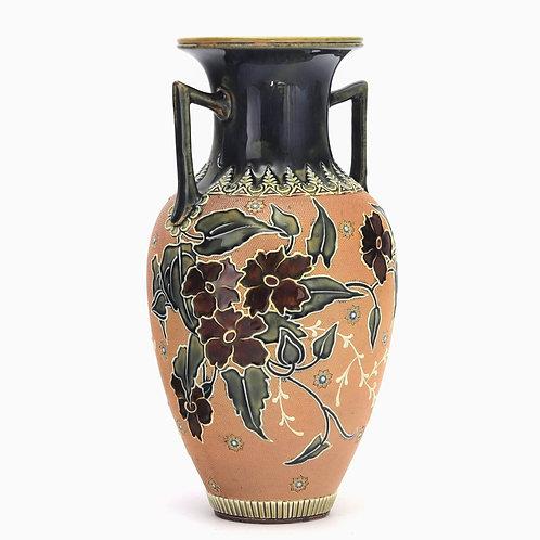 Doulton Lambeth Slater Twin Handled Art Union Vase c1895