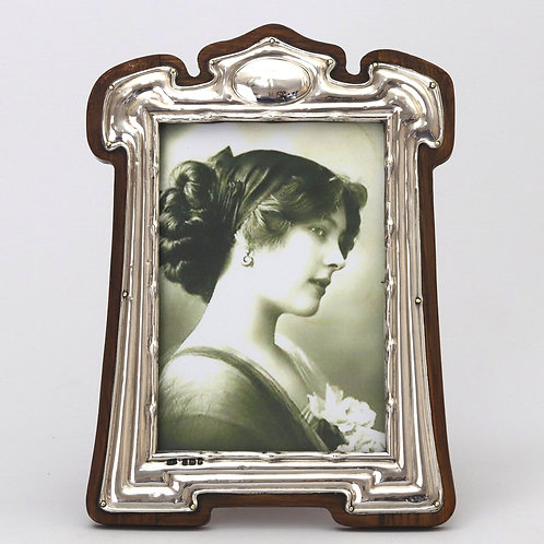 Art Nouveau Silver Photograph Frame by FJ Hall 1904