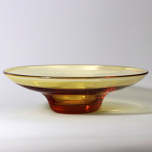 Whitefriars Footed Glass Bowl by Barnaby Powell c1930's