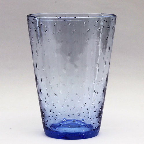 Stevens and Williams Blue Bubbled Glass Vase c1940's/50's