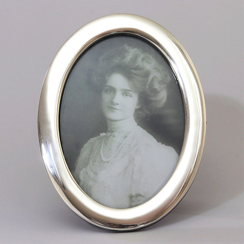 Oval Silver Photo Frame Birmingham 1922