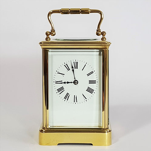 Large French Corniche Cased Striking Carriage Clock c late 19th