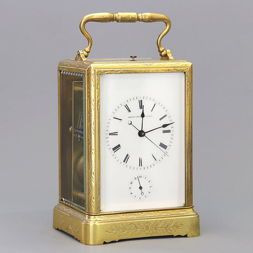 Repeating Centre-Seconds Carriage Clock by Japy Freres c1860