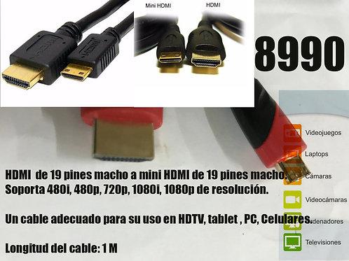 Cod. - 8990 - Cable Hdmi A Mini Hdmi 9015