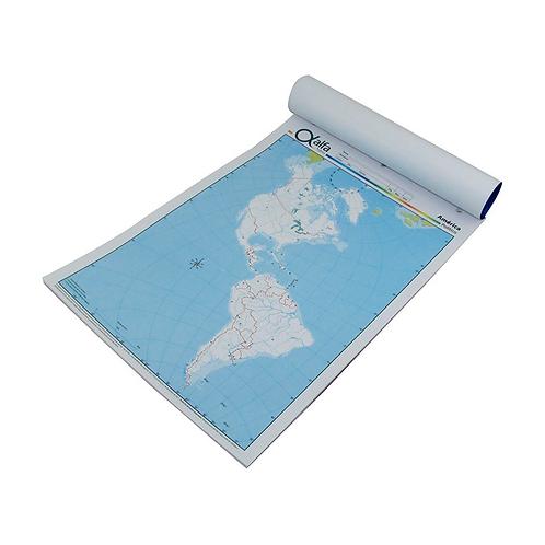 Cod. - 16800 - Block Mapa Continente Americano Politico N°3 13812