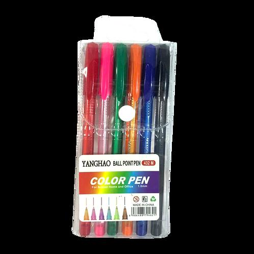 Birome Con Gel De Colores 21261/6