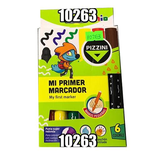 Marcador Punta Super Redonda 6 Colores 8606 Pizzin