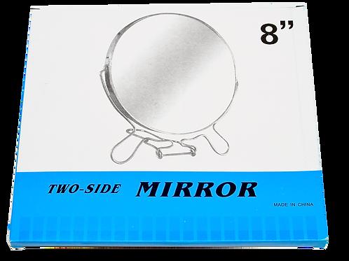 Espejo Doble Faz Marco Metal 8¨ Cr-Ir8