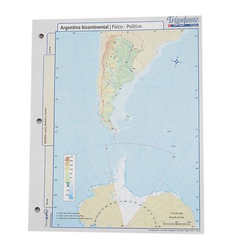 BLOCK MAPA ARG BICONTINENTAL FISICO/POLITICO N°3