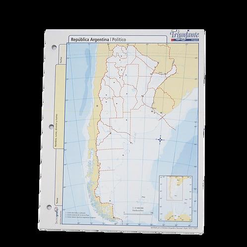 BLOCK MAPA REP ARGENTINA POLITICO N°3 10019