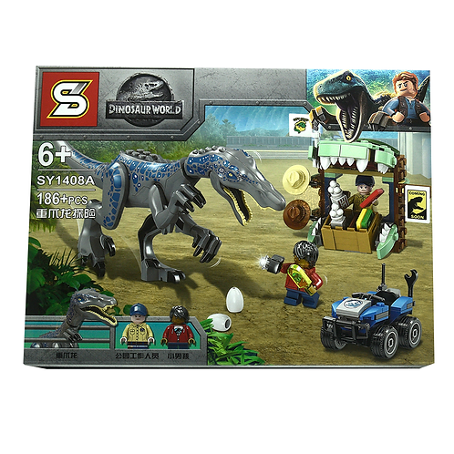 Lego Dinosaurio Jurasic Park En Caja 1408