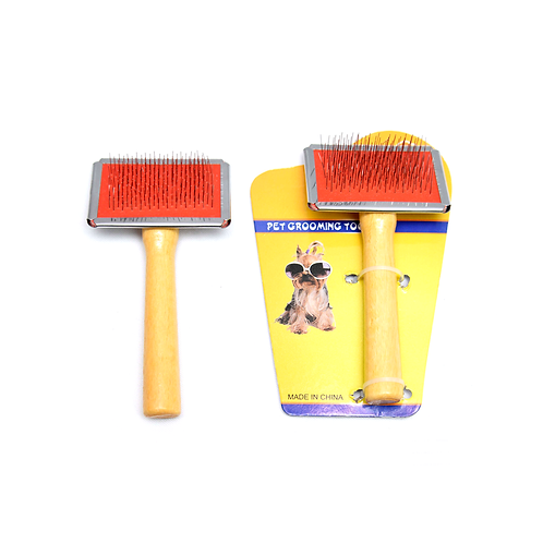 Cepillo Para Perro Mango Madera 9503