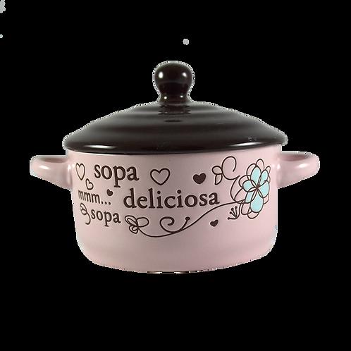 Sopera Individual C/Tapa Y Cuchara Ww13262