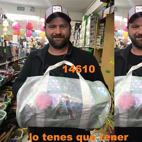 Cod. - 14610 - Bolso Cilidrico Con Pompom Ma1343
