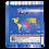 Thumbnail: Cod. - 16801 - Block Mapa Cont Americano Fisico/Politico N°3 1571