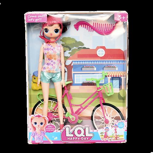 Muñeca Lol Con Bicicleta En Caja Cr-Sr9848-1