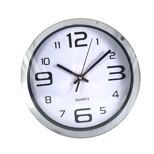 Reloj De Pared Pastico Tipo Metal Yw3868