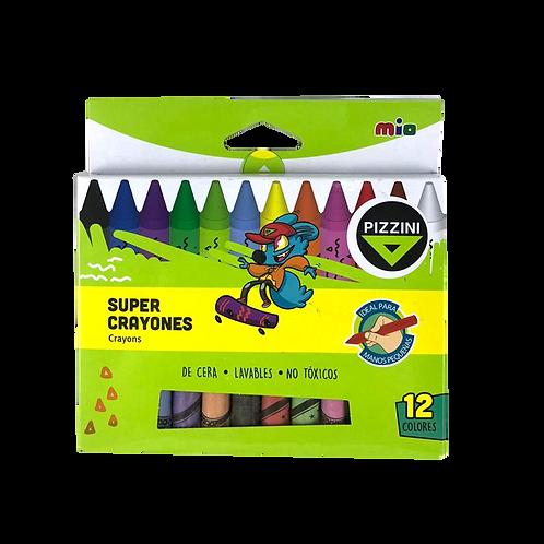 Crayon Super Lavable ×12 Pizzini - 9212