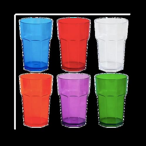 Cod. - 18771 - Vaso Facetado Traslucido Colores