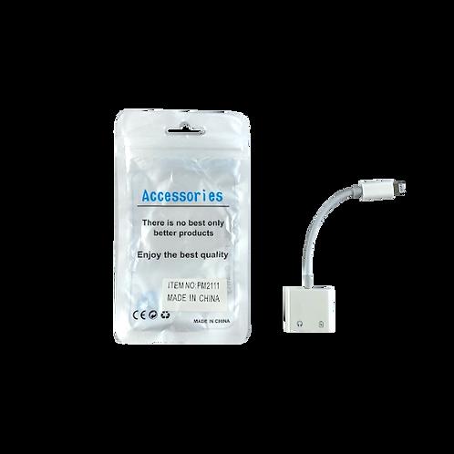 Adaptador Iphone 2En1 Jack-Charge Ap271