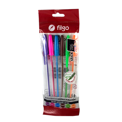 Boligrafo Stick 026 filgo X6