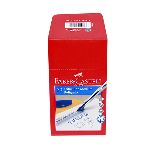 Cod. - 15959 - Boligrafo Faber Trilux 032 Azul X50