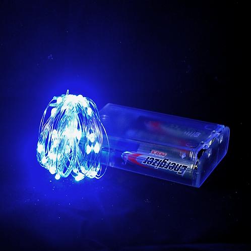 Cod. - 17816 - Luz Guirnalda Microled Azul 3 Pilas 5Mts Sa-5
