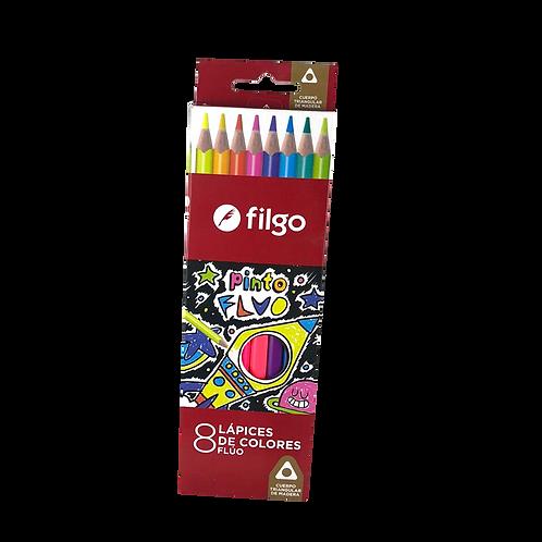 Lapices De Colores Ed Madera Pinto filgo Pn401-E8-Flu