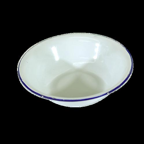 Bowl Enlozado Blanco Con Borde Azul 14Cm Ps1011-14