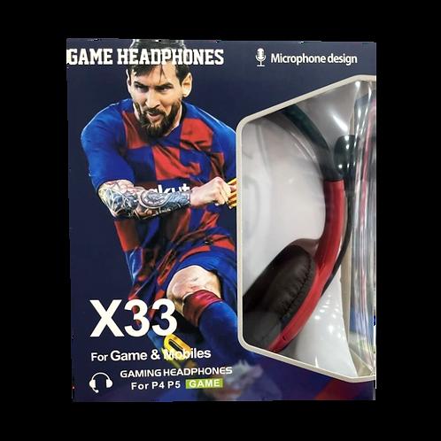 Auricular Gamer Messi X33 X16