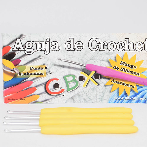Cod. - 13702 - Aguja Crochet Mango Silicona N░2.5