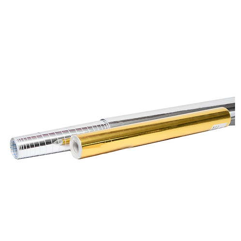 Cod. - 16036 - Rollo Contact Metalizado 45Cms X Metro Oro Plata