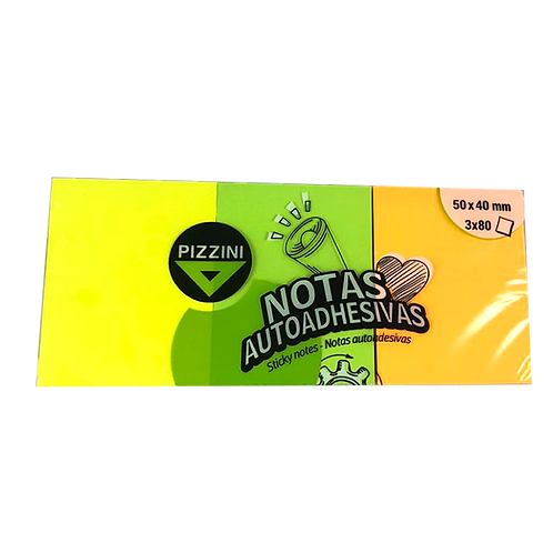 Cod. - 18127 - Notas Autoadhesivas 50X40 X3 Fluo Na504080X3F