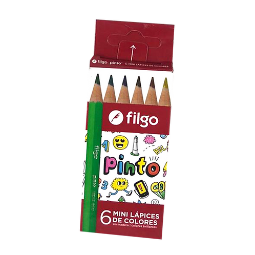 Lápiz Color Corto X6 Filgo Pn-202