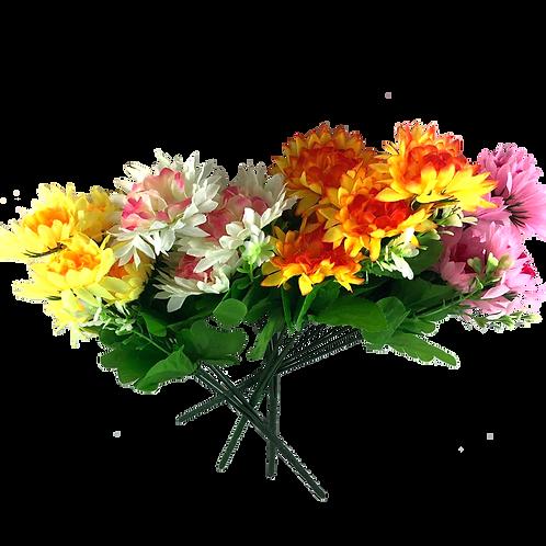 Ramo Flores X5 Bicolor Puntitas Yw3289
