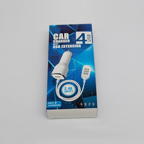 Cargador Usb Para Auto En Caja C/4 Usb - 88A3